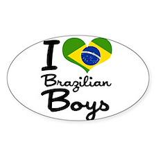 I Heart Brazilian Boys Decal