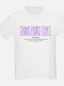 Purple Victorian CDH Awareness Logo T-Shirt