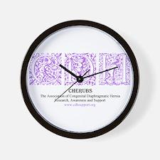 Purple Victorian CDH Awareness Logo Wall Clock