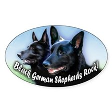 Black German Shepherds Rock Decal