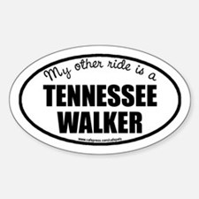 My Other Ride Is A Tennessee Walker Oval Decal