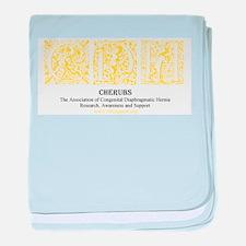 Yellow Victorian CDH Awareness Logo baby blanket