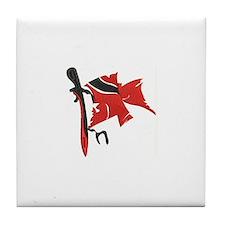 Cute Trini flag Tile Coaster