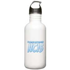 I'd Rather Be Watching NCIS Water Bottle