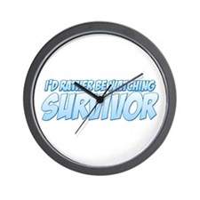 I'd Rather Be Watching Survivor Wall Clock