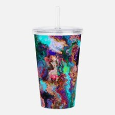 Abstract Oil Color Mix Acrylic Double-wall Tumbler