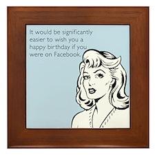Happy Birthday on Facebook Framed Tile