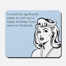 Happy Birthday on Facebook Mousepad