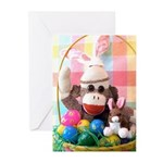 Ernie the Sock Monkey Easter Greeting Cards (Pk10)