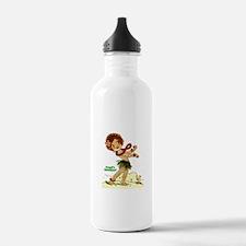 Cute Retro hula girl Water Bottle