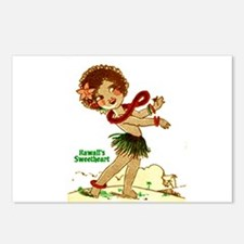 Unique Hula girl Postcards (Package of 8)