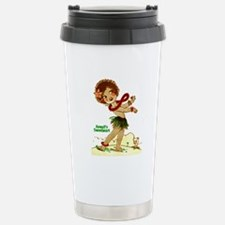 Cute Retro hula girl Travel Mug