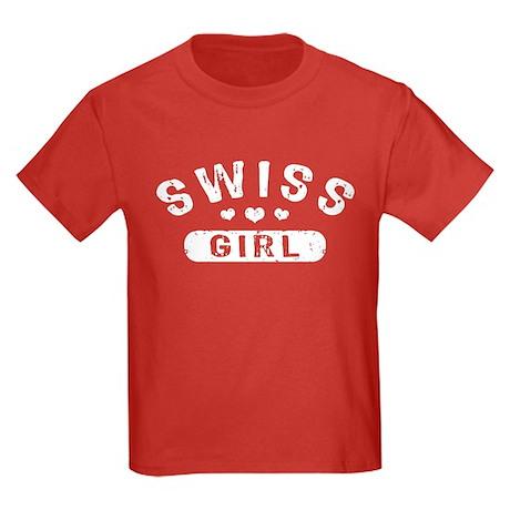 Swiss Girl Kids Dark T-Shirt