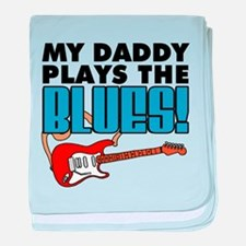 Daddy Plays Blues baby blanket