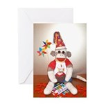 Ernie the Sock Monkey Birthday Greeting Card
