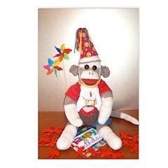 Ernie the Sock Monkey Birthday Postcards (Pk/8)
