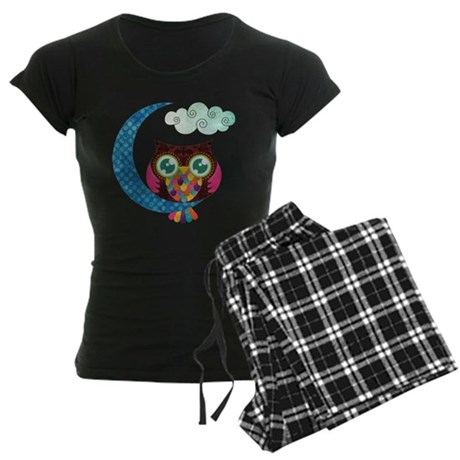My Crescent Owl Women's Dark Pajamas
