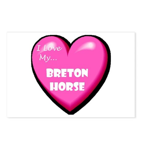 I Love My Breton Horse Postcards (Package of 8)