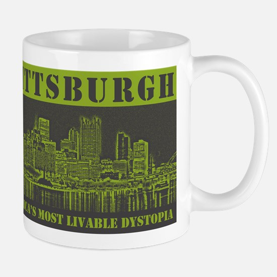 dystopia_green_shirt Mugs
