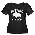Buffalo New York Women's Plus Size Scoop Neck Dark