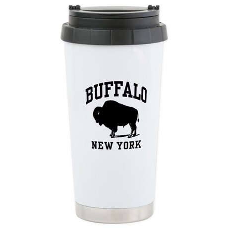 Buffalo New York Stainless Steel Travel Mug