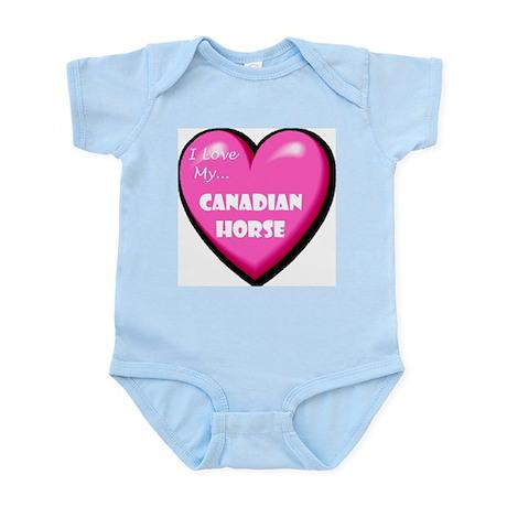 I Love My Canadian Horse Infant Creeper