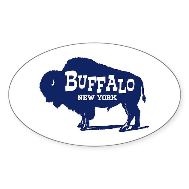 Buffalo New York Sticker (Oval) By Teesorama