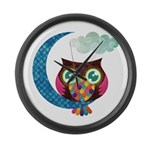 My Crescent Owl Large Wall Clock