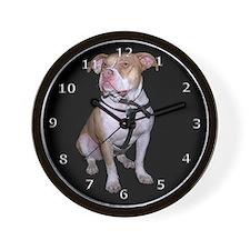 Black Pit Bull Wall Clock