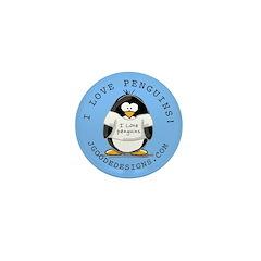 I Love Penguins Mini Button (10 pack)