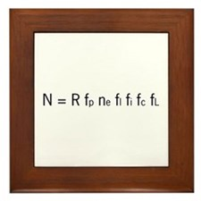 Drake Equation Framed Tile