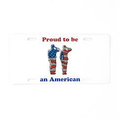 Proud American Aluminum License Plate