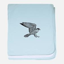 falcon (black) baby blanket