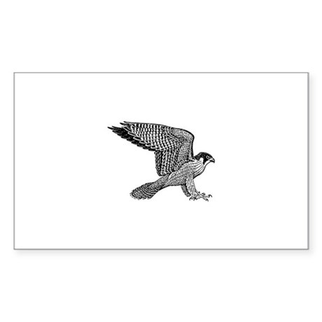 falcon (black) Sticker (Rectangle)