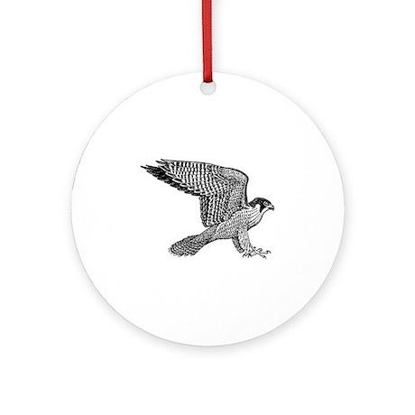 falcon (black) Ornament (Round)