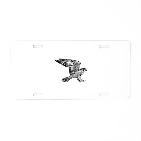 falcon (black) Aluminum License Plate