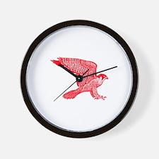 falcon (red) Wall Clock