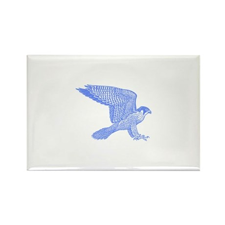 falcon (blue) Rectangle Magnet (10 pack)