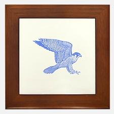 falcon (blue) Framed Tile