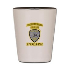 Steamboat Springs Police Shot Glass