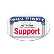 Social Security 22x14 Oval Wall Peel