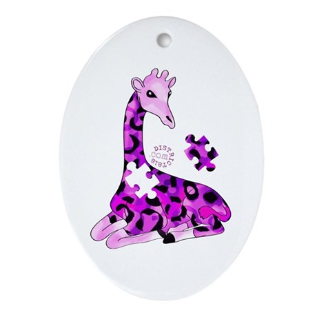 GIRAFFE FOR AUTISM Ornament (Oval)