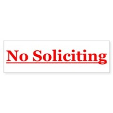 No Soliciting Car Sticker