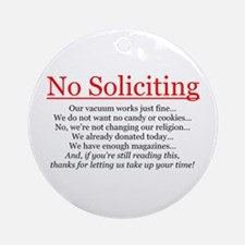 No Soliciting Ornament (Round)