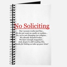 No Soliciting Journal