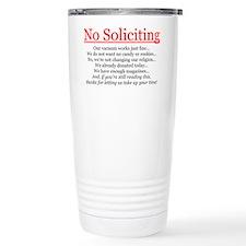 No Soliciting Travel Mug