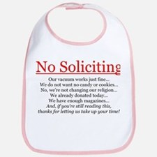 No Soliciting Bib