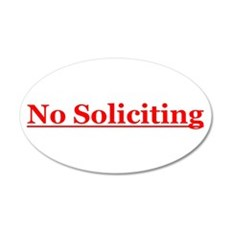 No Soliciting 20x12 Oval Wall Decal