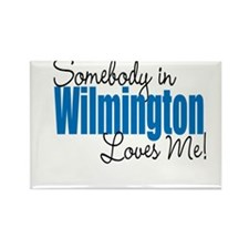 Loves Me in Wilmington Rectangle Magnet