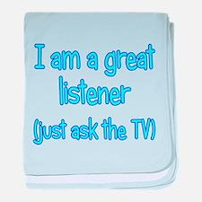 Great TV Listener baby blanket